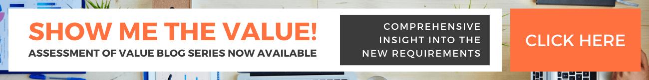 Assessment of Value Blog Series