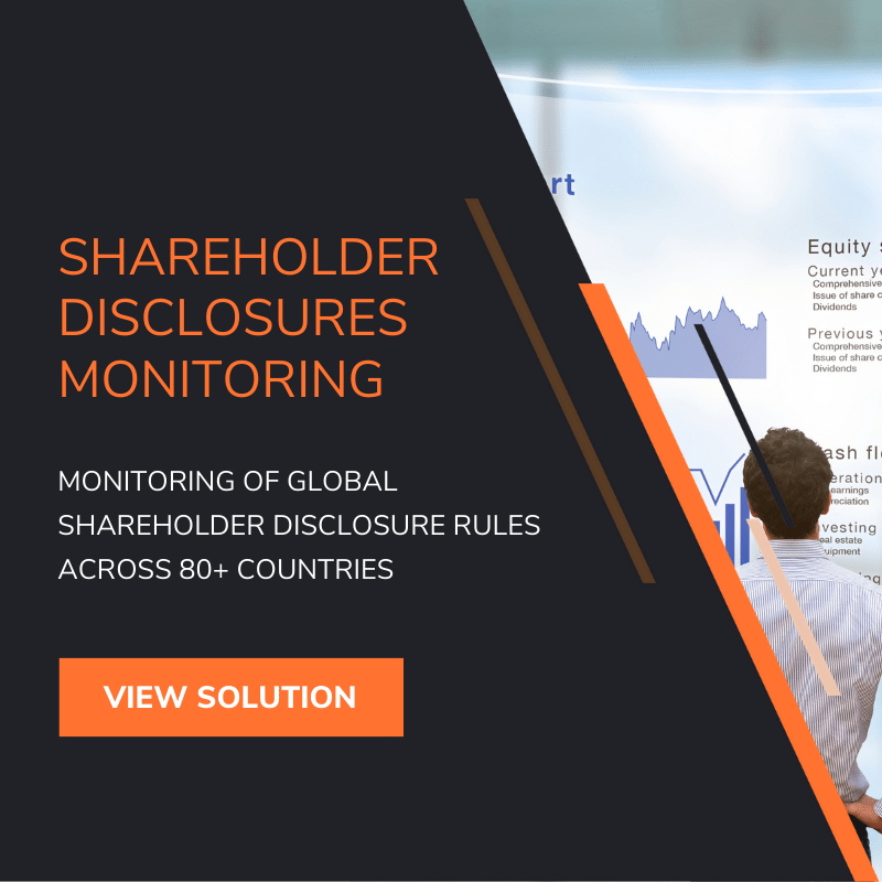 Automated Shareholder Disclosures Monitoring Software