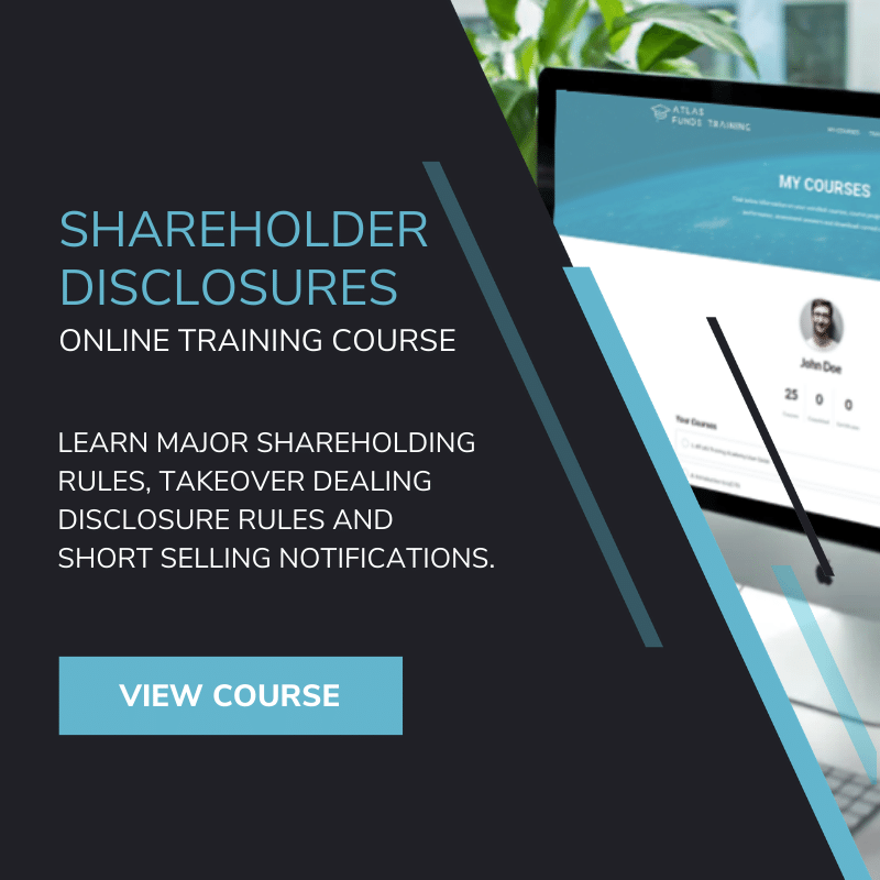 shareholder disclosure rules online training course