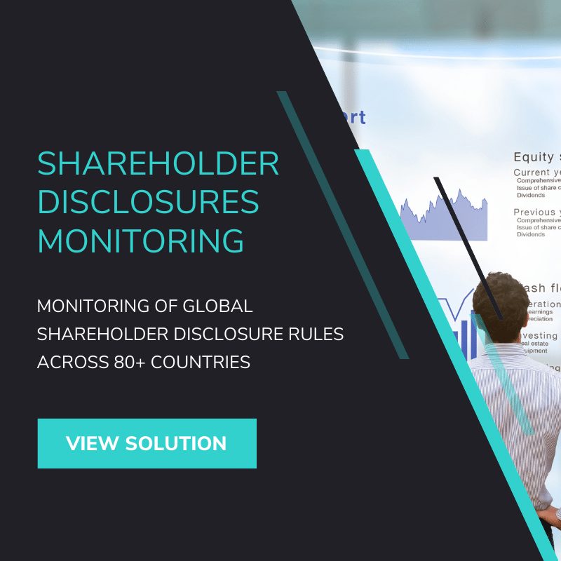 Shareholder Disclosure Monitoring Software