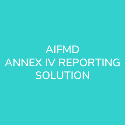 aifmd annex iv reporting solution