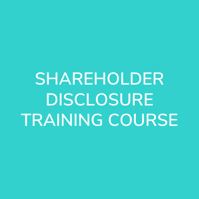 shareholder-disclosures-training-course